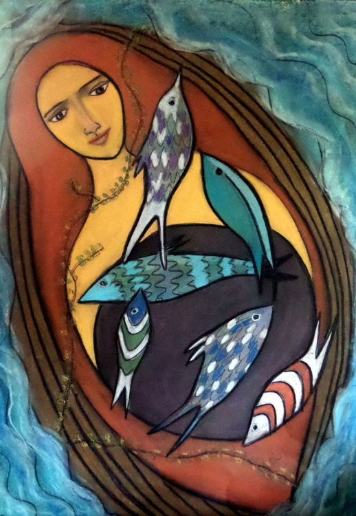 she swims with the fishes - Image 0