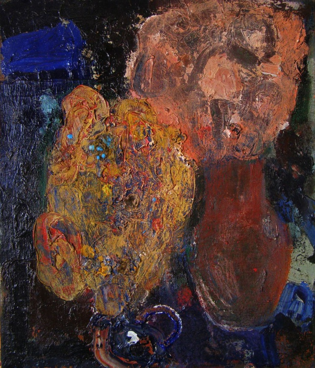 """Flowers"". Oil on canvas. 50/60cm. 2011. - Image 0"