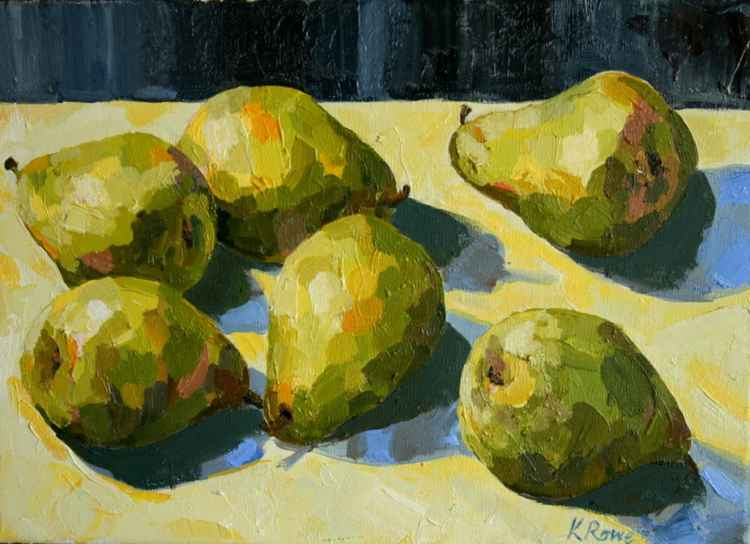 Pears on a table -