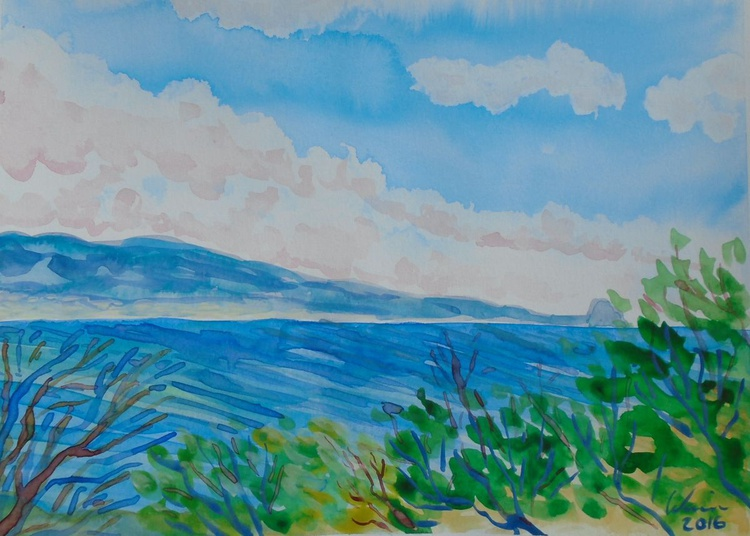 Seascape with rolling clouds - Image 0