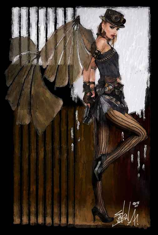 STEAMPUNK PIN UP -