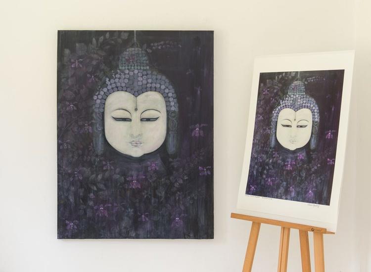 Indigo Orchid Buddha - Image 0