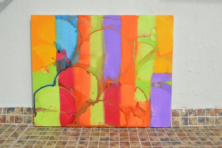 Love for colors (60 * 76 cm, Ready to Hang) - Image 0