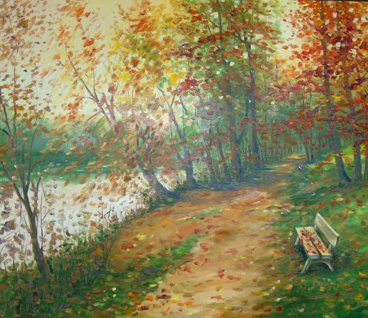 Autumn alley -