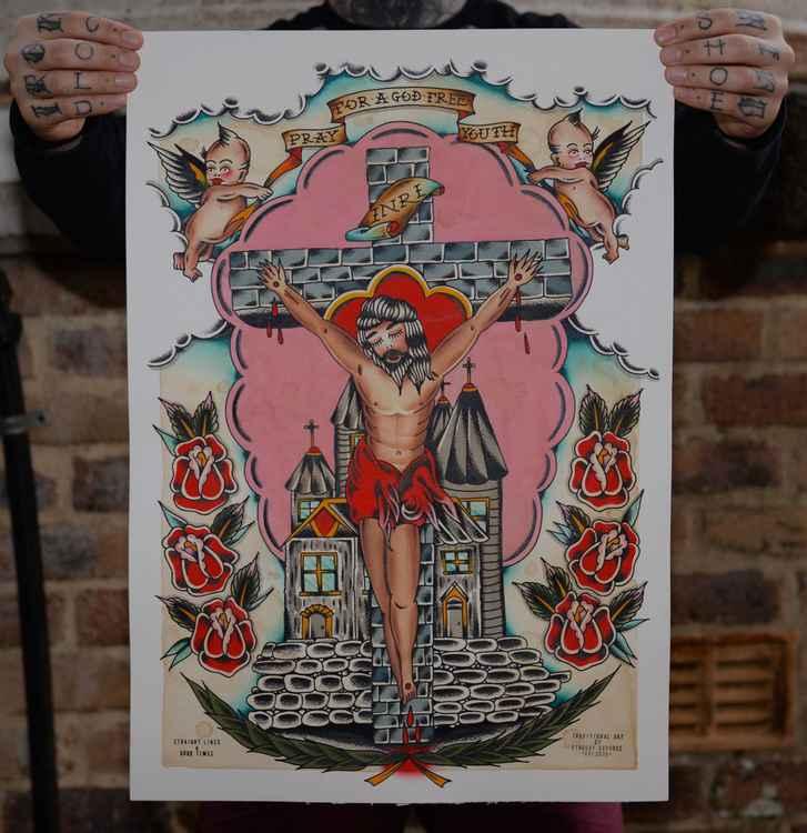 God Free Youth. 42.0cm x 59.4cm