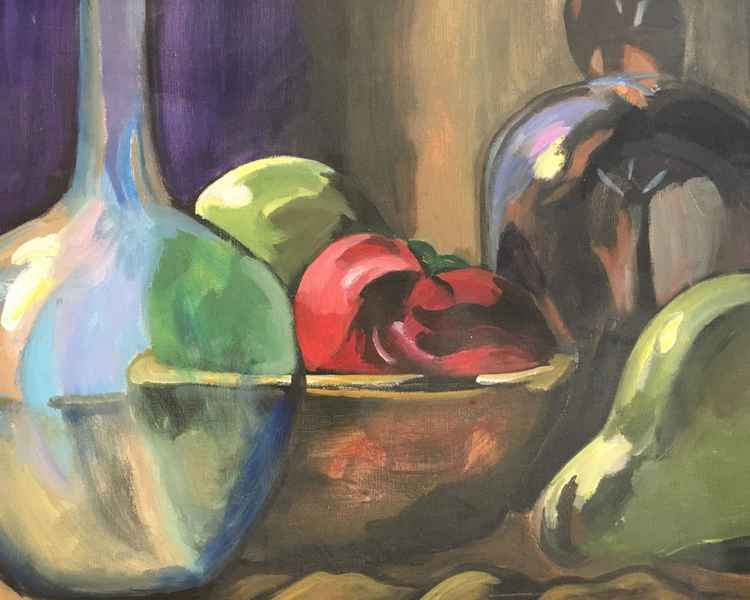 Moody Glass with Pear
