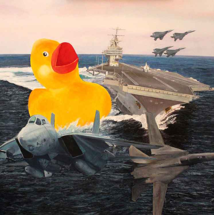 Ducky Attacks H.W. Bush in the Straits of Hormuz -