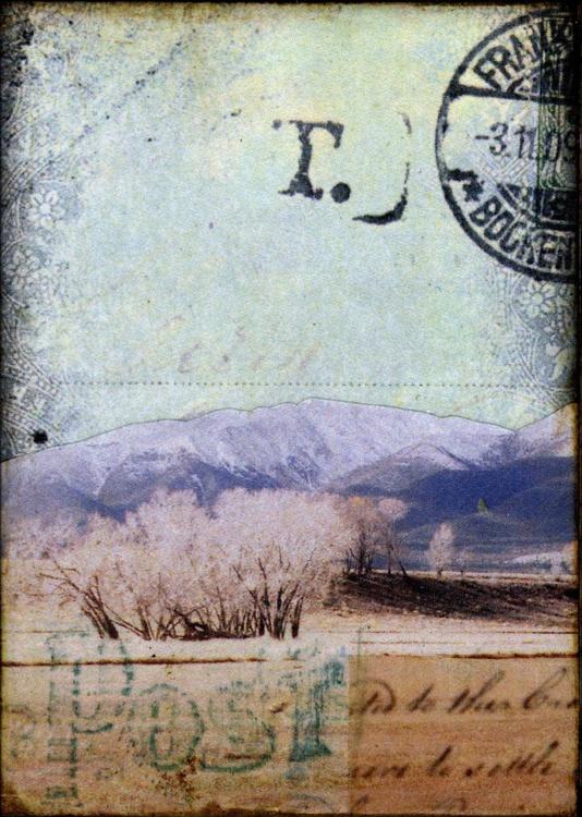 Mountains II, Mixed Media Miniature - Image 0
