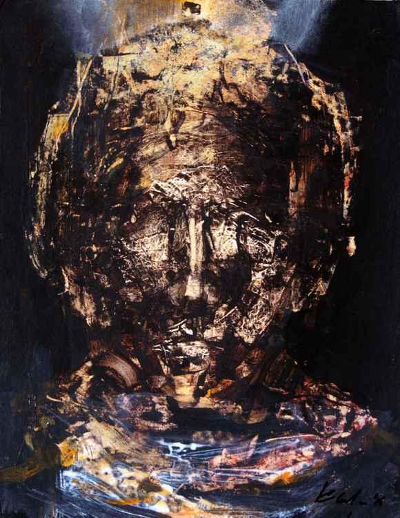 HUMAN FACE EXPRESSIVITY TRAVELER ONIRIC SPIRITUAL MASTERPIECE BY OVIDIU KLOSKA ABOUT ESCAPE FROM MUNDANE WORLD, 2015 -