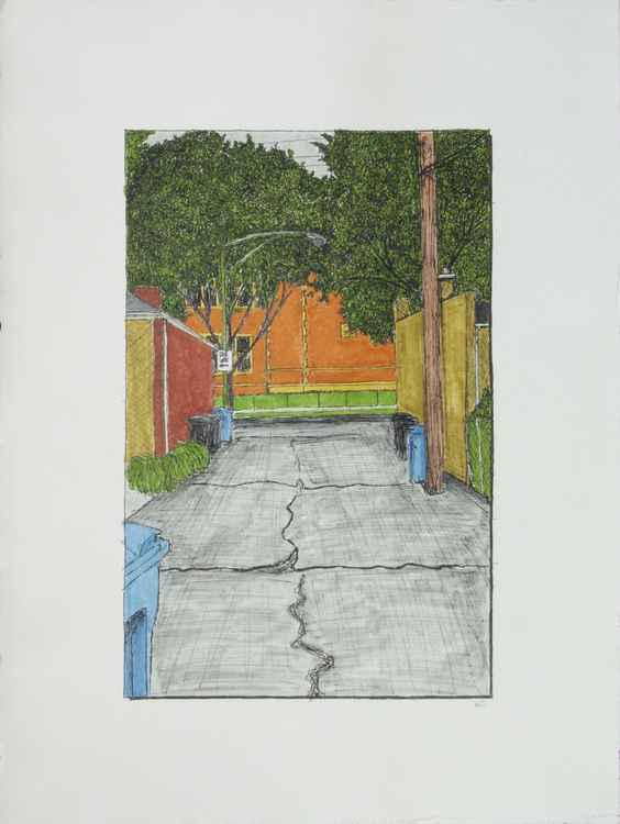 Alley with Boone School -