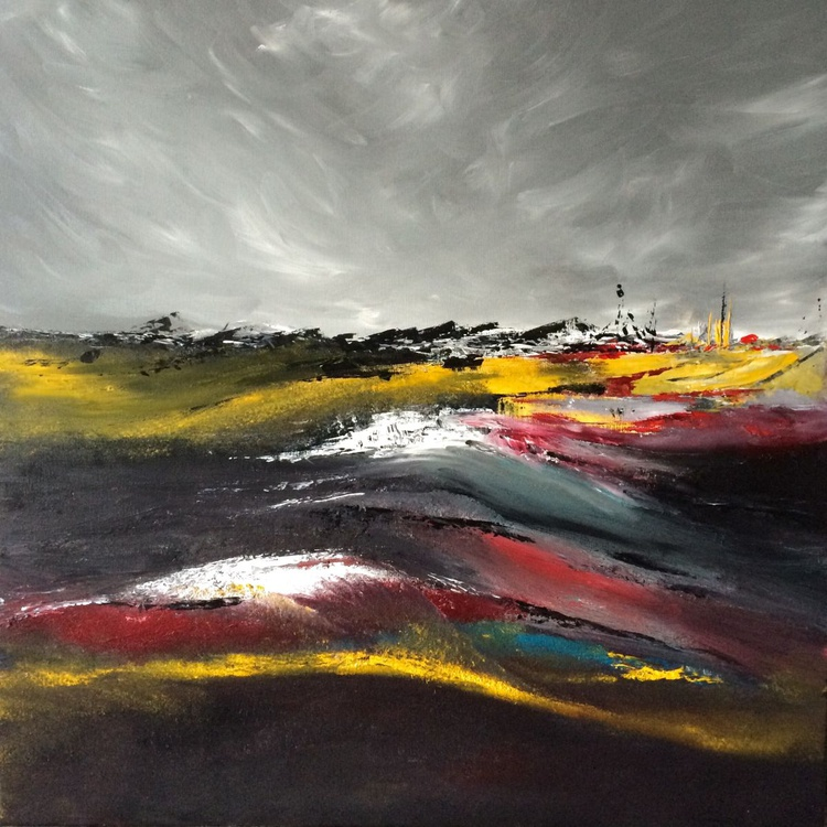 """Wuthering Heights""  ,  28x28 inches / 70x70cm - art painting // abstract painting // original painting - Image 0"
