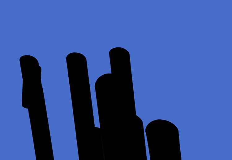 tubes ON blue
