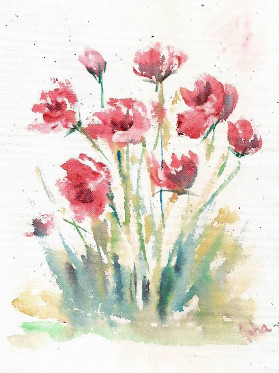 """Pink flowers 8.5""""x 11.5"""" - Image 0"""