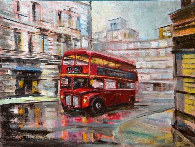 British icon No.2 Red bus - Image 0