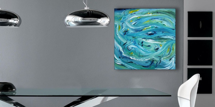 Color of the sound - Original abstract painting, oil on canvas - Image 0
