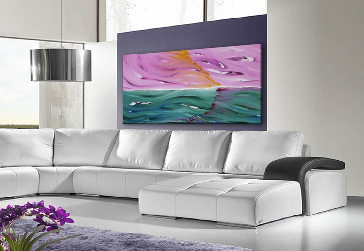 The evening light - FREE SHIPPING EUR / USA / UK - 120x60 cm - Image 0