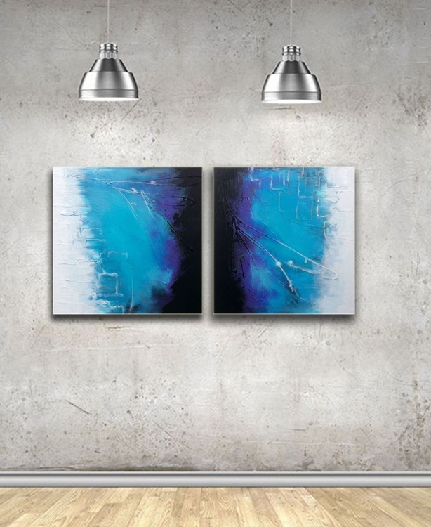 Light   (textured abstract acrylic painting) - Image 0