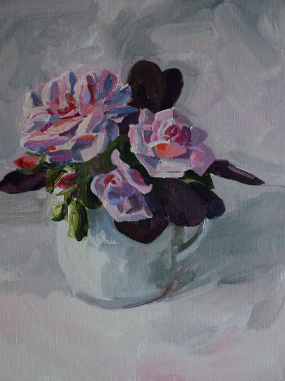 Roses with Continus -