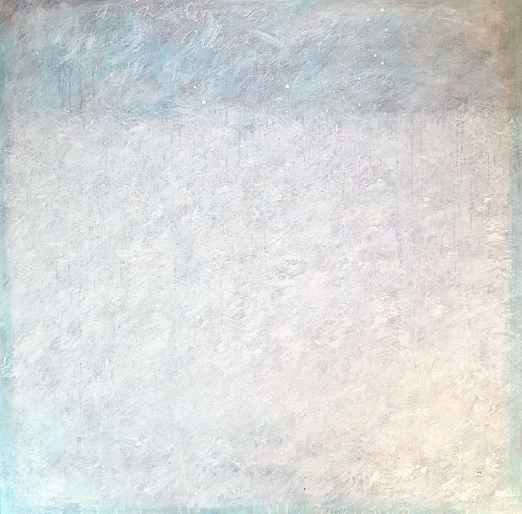 """""""Whispers series - Whiteout"""" large 36""""x36"""" - Image 0"""