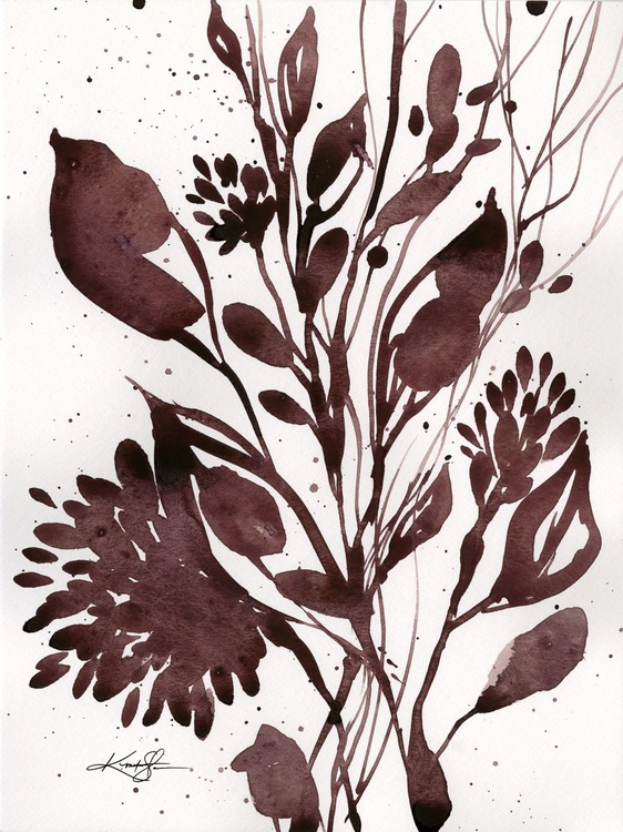 Organic Impressions No. 106 - Flower Watercolor Painting - Image 0