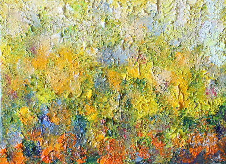 """Dandelions. View from Above 5""""x7"""" - Image 0"""