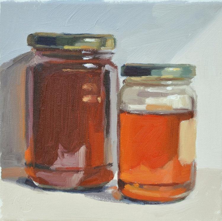 Two jars of honey - Image 0