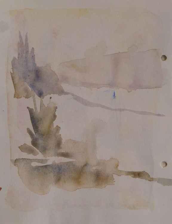 Nature sketch, 17x22 cm -