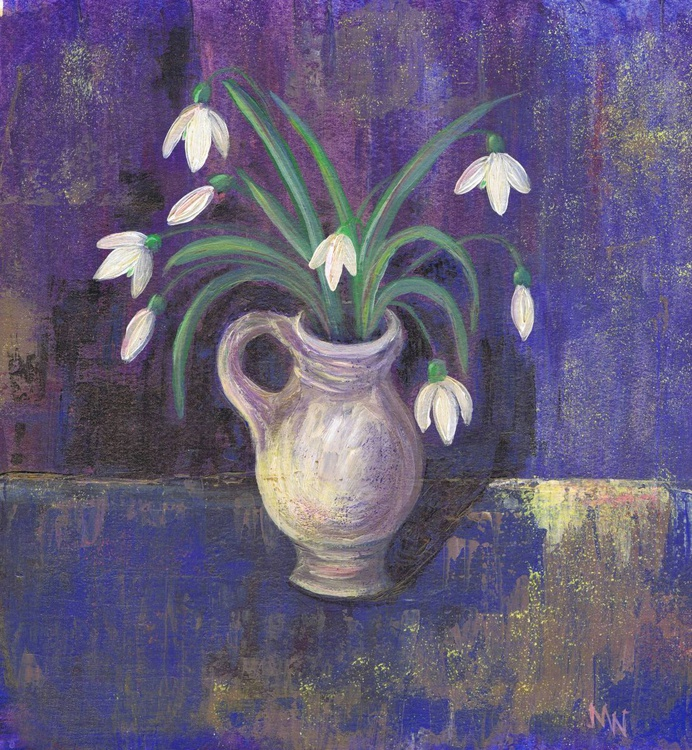 Snowdrops in a Pot - Image 0