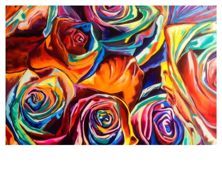 Rose,olio su tela,100x80cm,2014 - Image 0