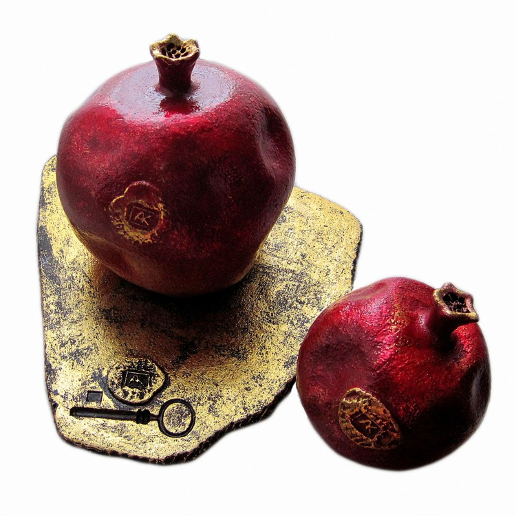 Composition with two pomegranates - Image 0