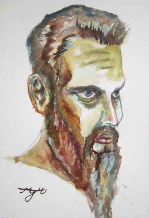 Self Portrait in Watercolours -