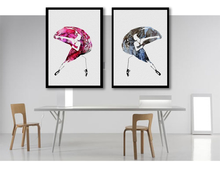 Dancer in pink / 60 cm x 42 cm - Image 0