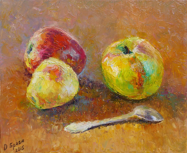 The Silver and Apples (palette knife) - Image 0