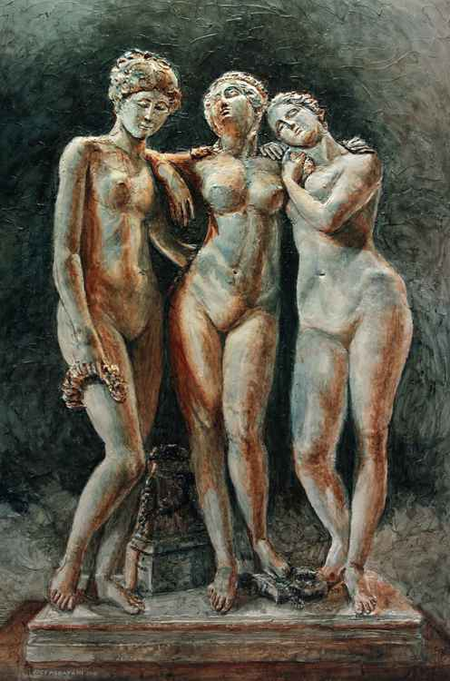 Pradier's Three Graces - Louvre Museum -