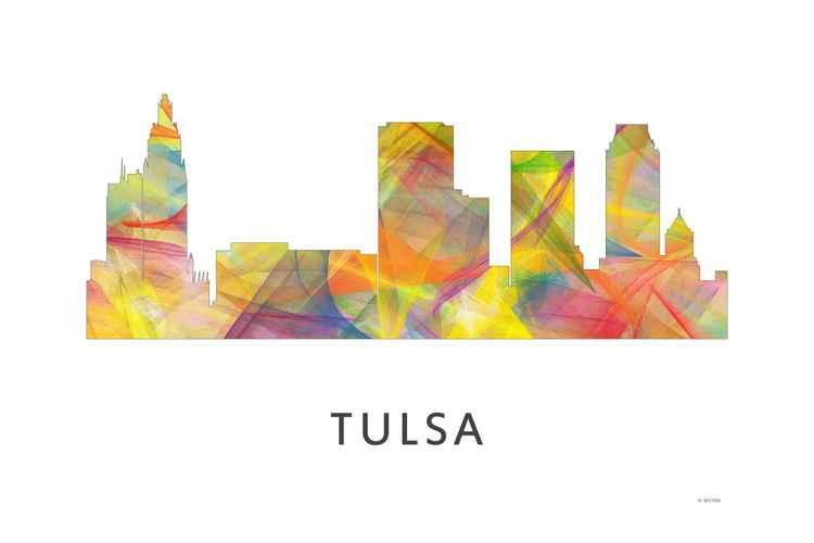 Tulsa Oklahoma Skyline WB1
