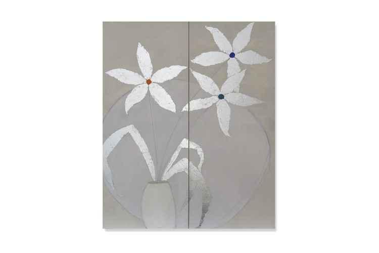 Showy Flowers Diptych