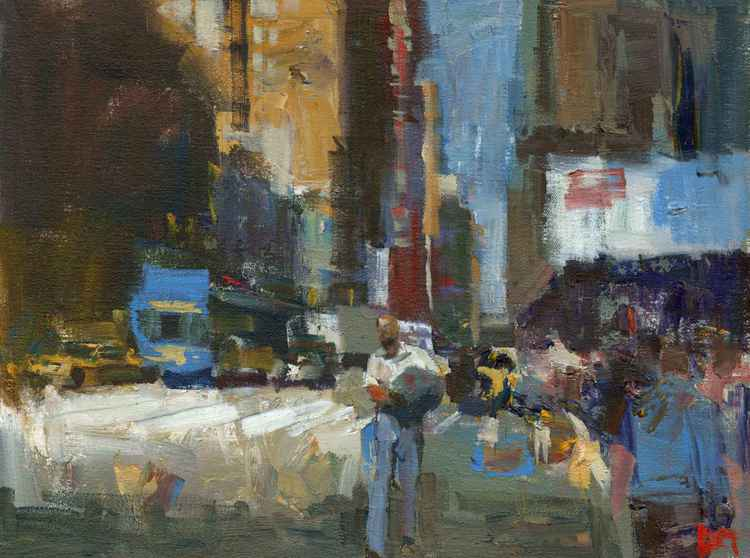 Midtown Blue and Yellow -