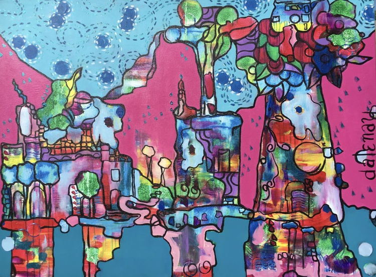 Peter Max 'City of water and sky' - Image 0