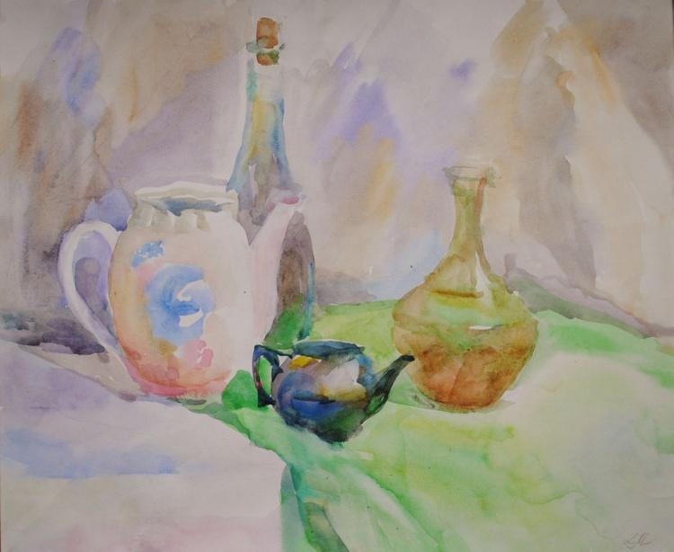 Still life vases and pots. - Image 0