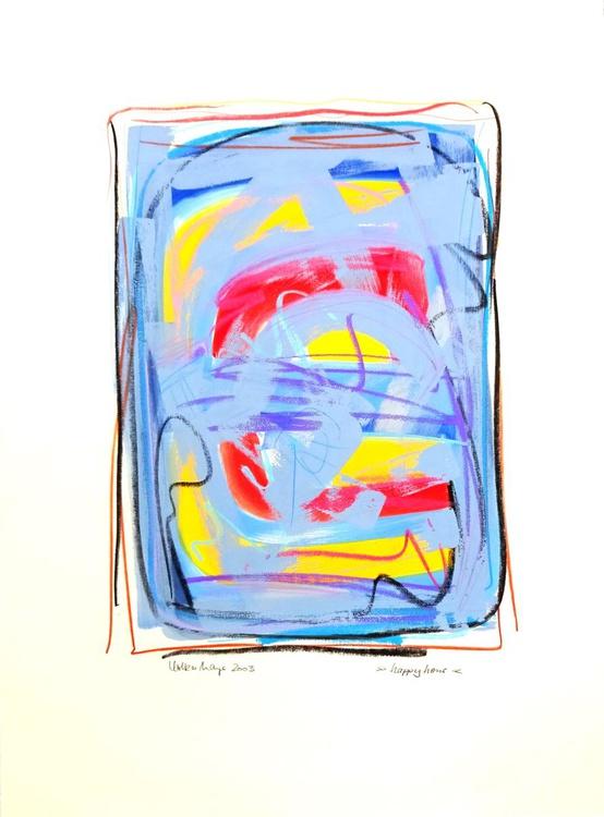 Happy Hour - große Gouache-Malerei - Image 0