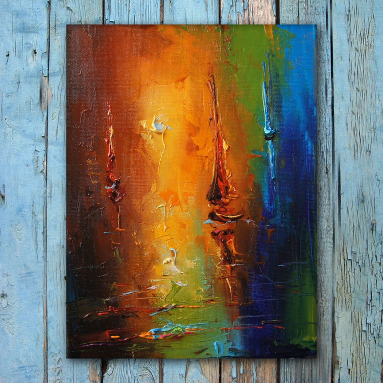 Breeze, Seascape painting, free shipping - Image 0