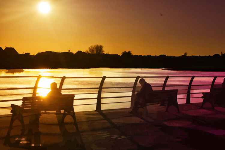 Sundown on the Adur -