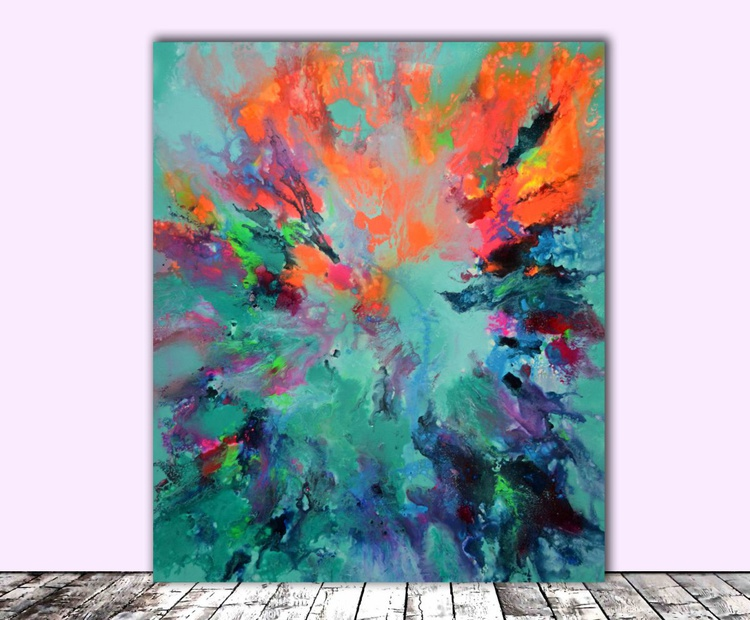 Pure Harmony I - Abstract Painting, Modern Fauve Neogestural - Ready to Hang - Image 0