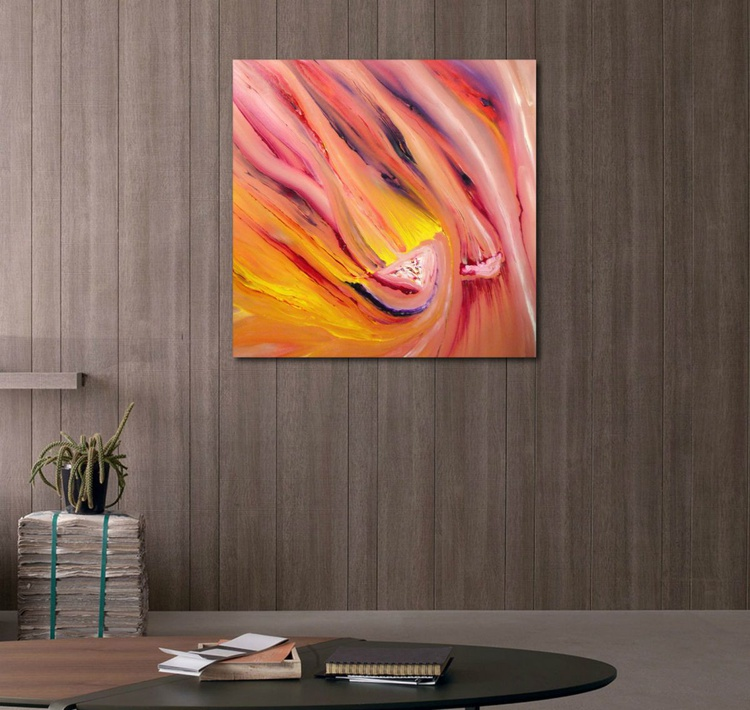 Ephemeral -   50x50 cm,  Original abstract painting, oil on canvas - Image 0