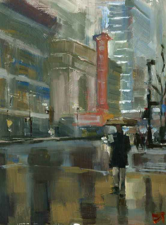 Rain State Street -