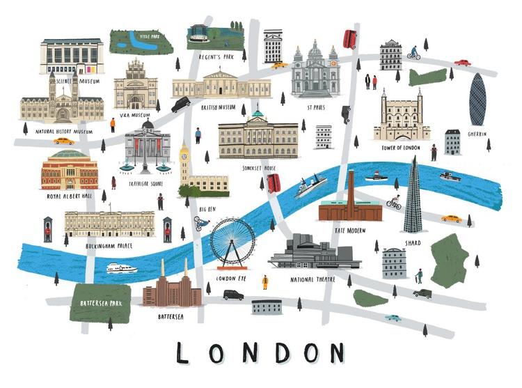 London map print (unframed) - Image 0