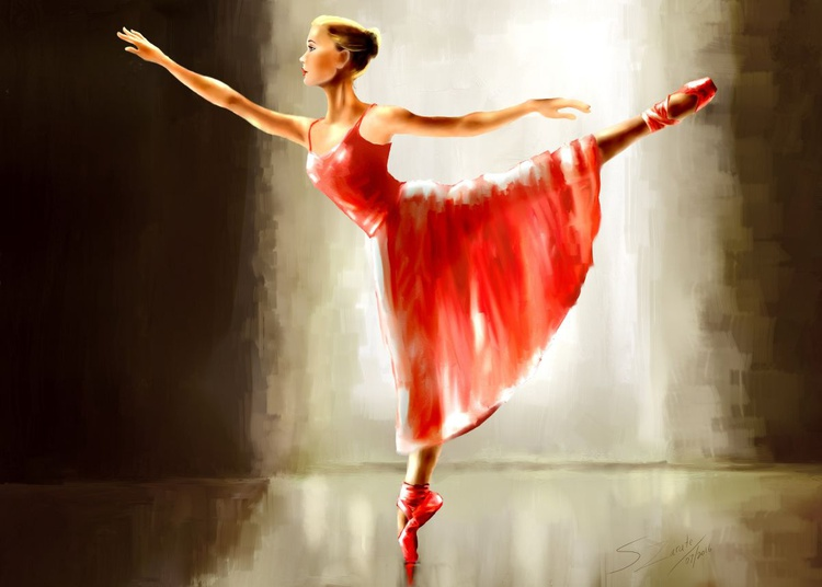 Ballerina in Red - Image 0