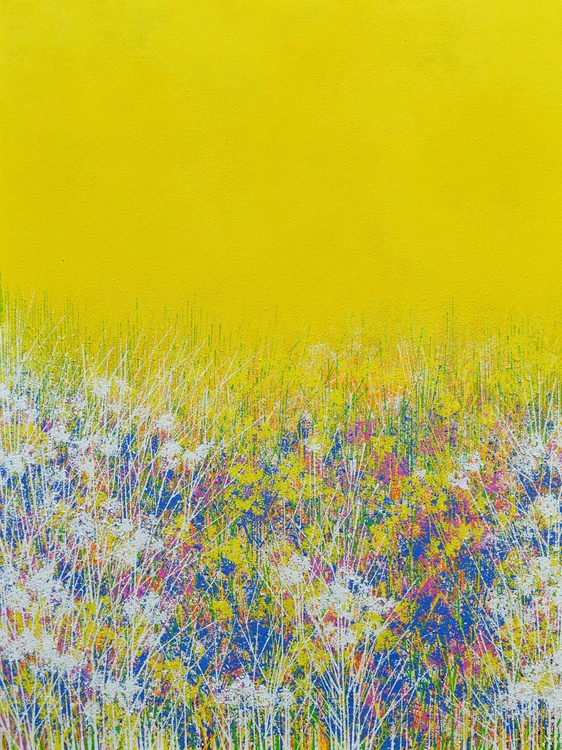 Wild Flowers Under A Yellow Sky - Image 0