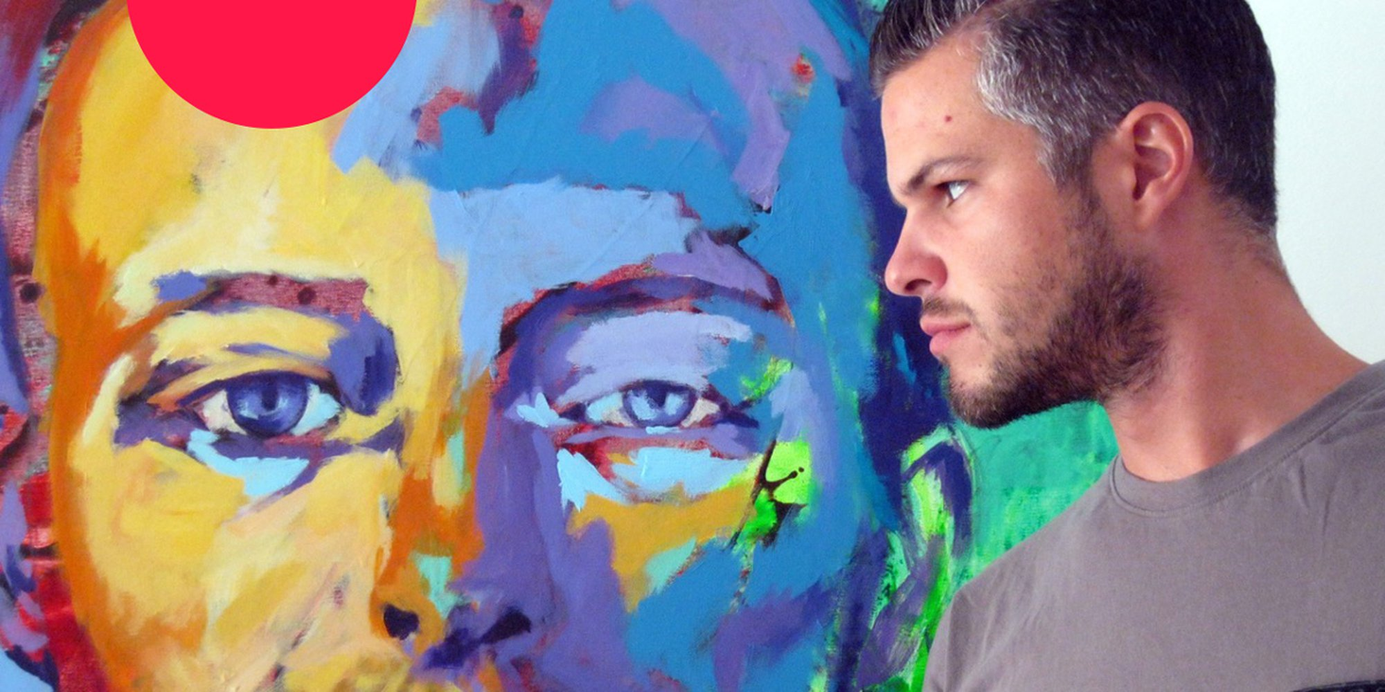 Javier Peña, self-taught artist, talks to Artfinder about creating portraits of famous faces and his love of using colour in his paintings.