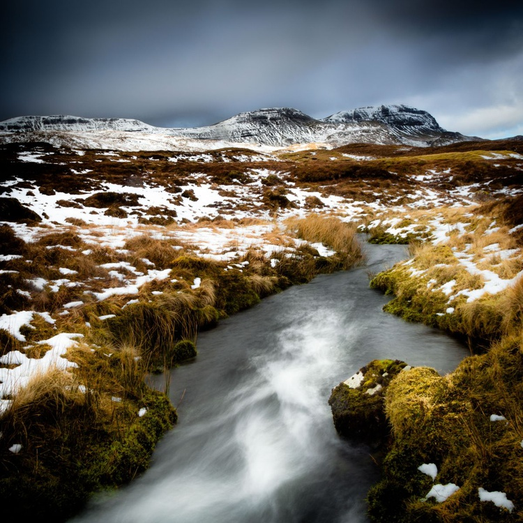 Winter on Trotternish - Ready to Hang 28 x 28 inch canvas - Image 0
